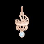 Pendant with blue zirconia