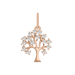 Anhänger Baum mit Zirkonia