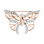 Brosche Schmetterling mit Zirkonia