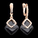Ohrhänger aus schwarzem Keramik mit Brillant