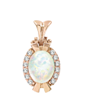pendant with Opal and zirconia