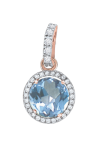 pendant with blue Topaz and zirconia