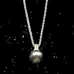Collier mit schwarze Perle