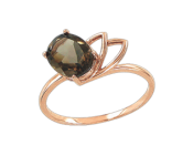Ladies Ring with RauchTopaz