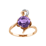 Ladies Ring with Amethyst and zirconia
