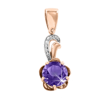 pendant with Amethyst and zirconia