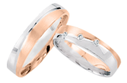 wedding rings with Brillant