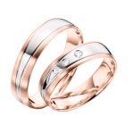 wedding rings with Brillant ohne Brilliant