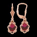 Earrings with ruby