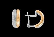 Gelb-/Weißgold Ohrhänger mit Brillanten