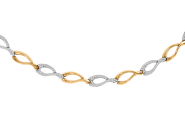 Collier oder als Armband Gelb-/Weißgold
