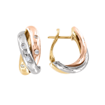 Gold Ohrhänger mit Zirkonia
