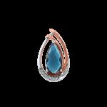 Pendant with diamonds and London Blue Topaz