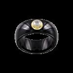 Damenring aus schwarzem Keramik mit Brillant