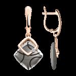 Ohrhänger Farbe Metalik Keramik mit Brillant