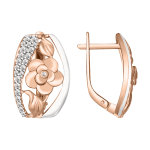 Ohrhänger mit Zirkonia, vergoldet