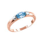 Ladies Ring with blue Topaz