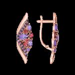 Ohrhänger mit Amethyst und Radolit