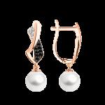 Ohrhänger mit Perle und Zirkonia