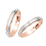 wedding ring with Brillant mit Brillanten