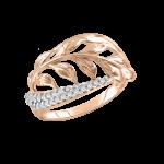 Damenring mit Zirkonia, vergoldet