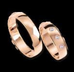 Обручальные кольца mit Brillanten