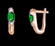 Ohrringe mit Smaragd