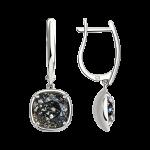 Ohrhänger mit schwarzem Swarovski Kristall