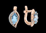 Ohrhänger mit blauem Topas und Zirkonia