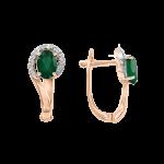 Ohrhänger mit Onix und Zirkonia