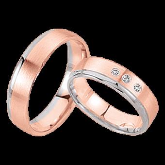Обручальные кольца с бриллиантами ohne Brilliant