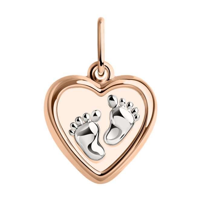 Anhänger Herz mit Babyfuß