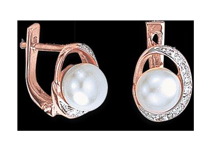 Ohrhänger mit echter Perle und Zirkonia