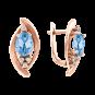 Ohrhänger mit blauem Topas, Zirkonia oder Brillant